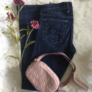 LB Sweet & Low Distressed Dark Blue Bootcut Jeans